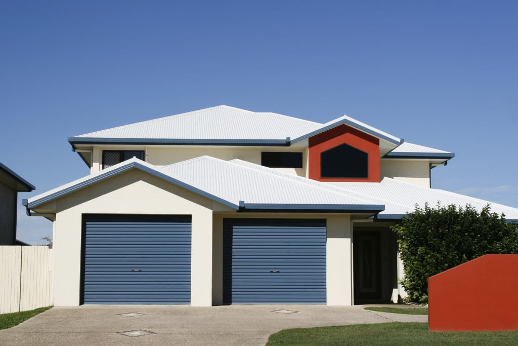 Roller garage doors colour deep ocean