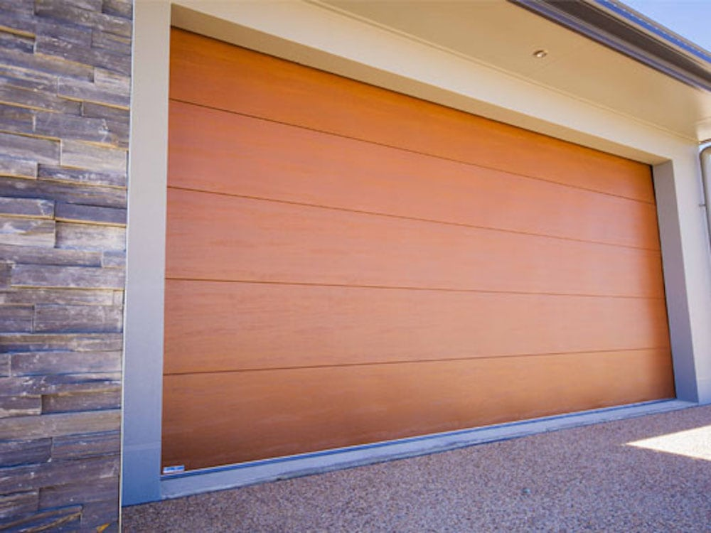 Sectional Wood Look Garage Door