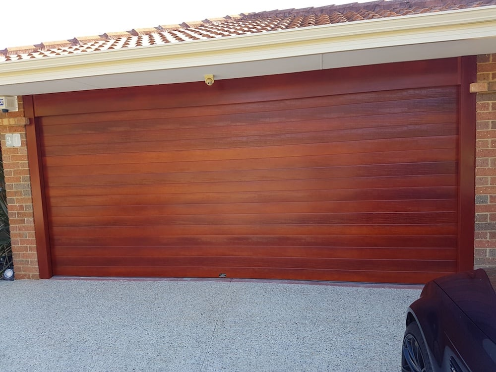 Wood Look Garage Door Ribline