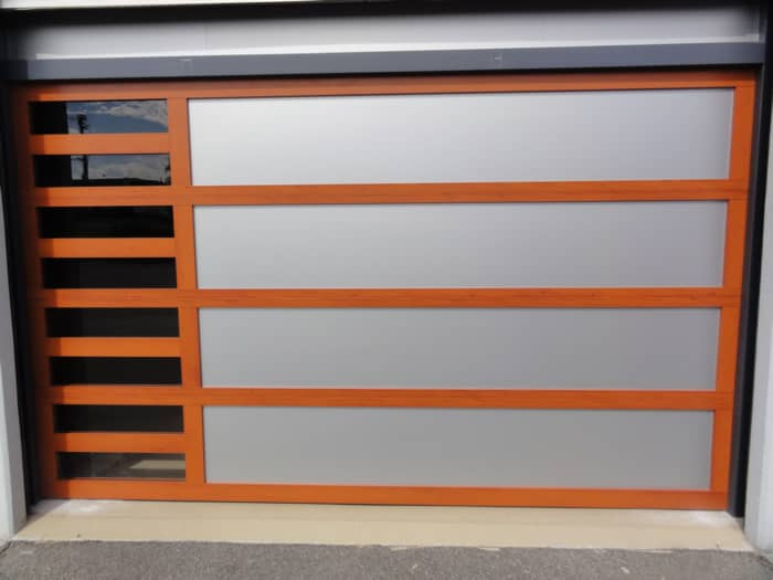 custom sectional garage doors with side windows