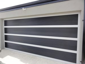 Custom Aluminum Louvre Garage Door