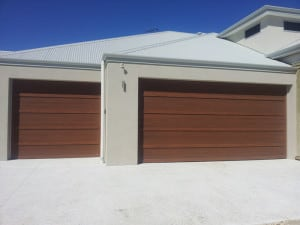 Custom Sectional Garage Door in wood look