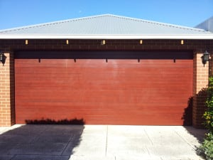 Aluminum Custom Sectional Garage Door, ribline profile