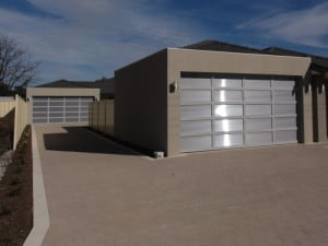 Custom Design garage door metallic panels