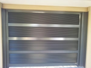 Custom Horizontal Slatted Sectional Aluminum Garage Door