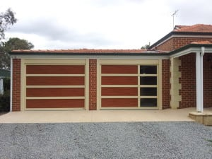Custom Garage Door wood look
