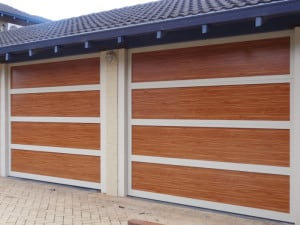 Custom Design garage door wood look