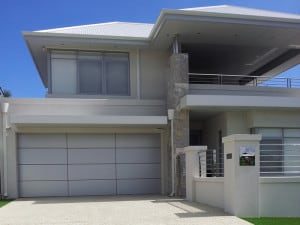 Custom designed sectional Garage Door - Slimline profile