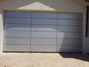 Custom designed Garage Door with Flatline