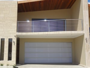 Custom Design Garage Door white pannels