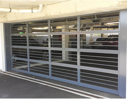 Custom-Aluminum-Garage-Door-Commercial-CarPark-Horizontal-Bar-Grille-Inserts-Gryphon-2