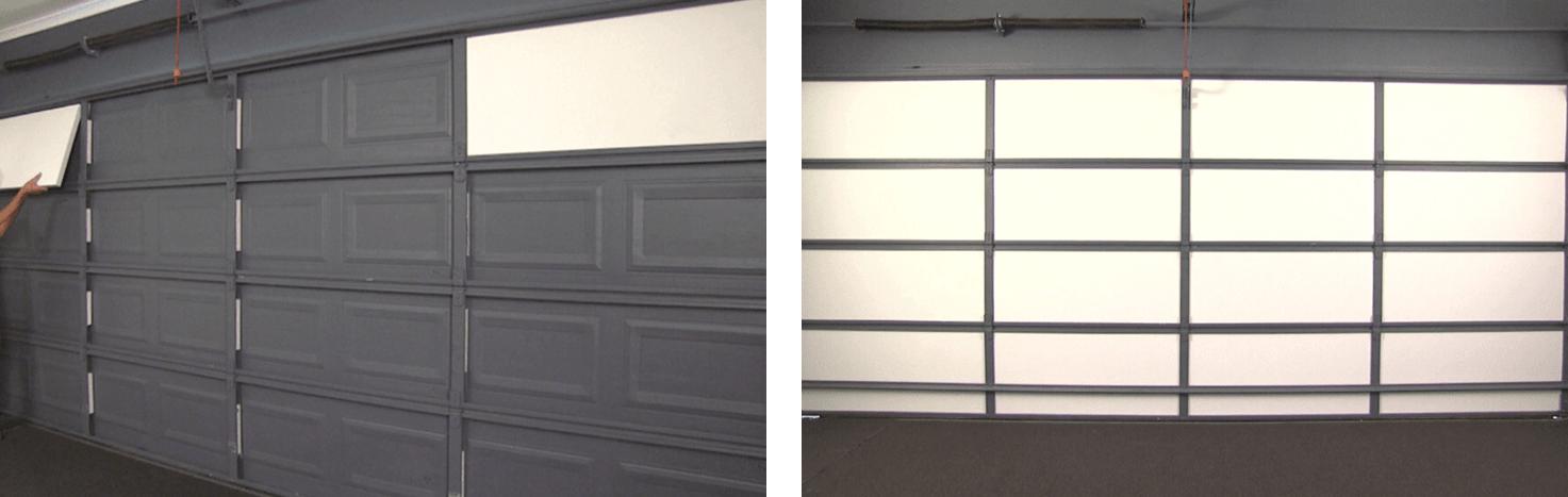 Garage door - insulated panels for sectional Doors