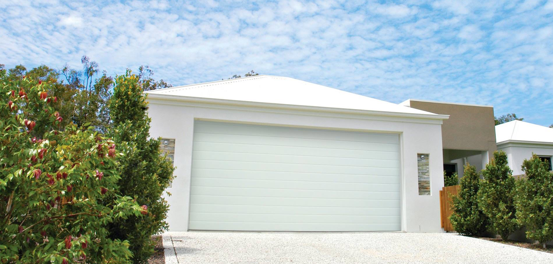 gryphon garage doors - residential sectional garage doors white Perth