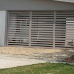 Horizontal Slatted Sectional Aluminum Garage Door Gryphon
