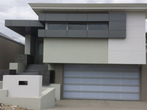 custom aluminium framed garage doors