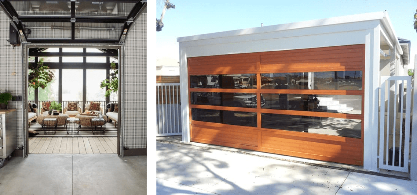 Custom Built Garage Doors with Glass Inserts in Perth and Melbourne