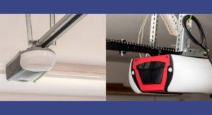 Belt Garage door opener versus chain garage door opener