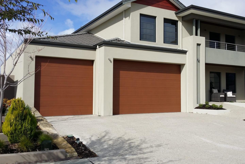 Wood-look garage door - Colorbond® Timber Look garage doors