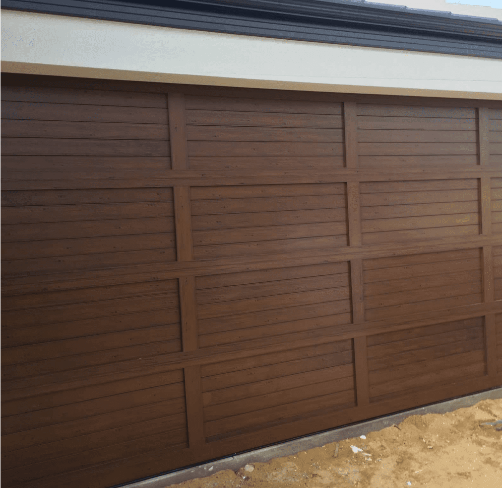 Biowood garage door- Wenge