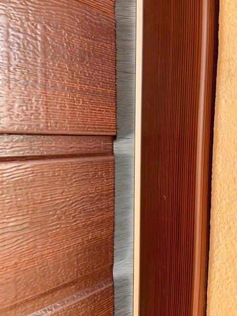 wood look garage door Brush Seal